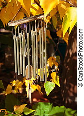 Wind Chimes - Wind chimes in garden.
