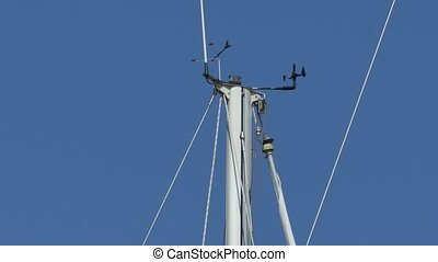 Wind Devices on Ship Mast - Speed and direction meteo...