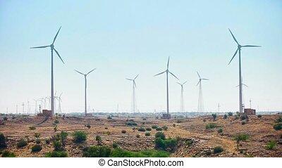 Wind electric generator - power stations in desert