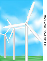 Wind electric - The electric wind-turbine generate pure...