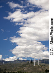 Wind, endless energy and beautiful landscapes with clouds
