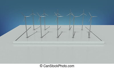 Wind energy changed power electric energy. and supply a city...