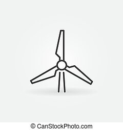 Wind Energy Converter vector outline concept icon