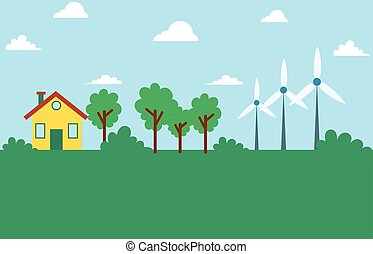 Wind energy eco friendly design