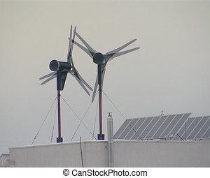 wind energy generate roof