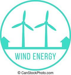 wind energy green logotype