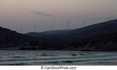 wind energy near the Aegean sea. - wind energy near the...