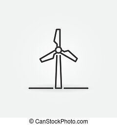 Wind Energy outline icon - vector wind turbine sign