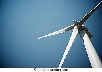 Wind energy - Windmill for electric power production, Burgos...