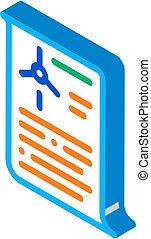 wind energy technicians document isometric icon vector illustration
