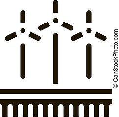 wind energy technicians icon Vector Glyph Illustration