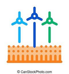 wind energy technicians icon vector outline illustration