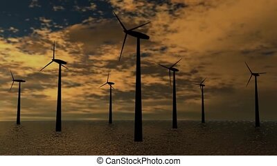 wind energy turbine - background video