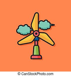 wind energy vector icon