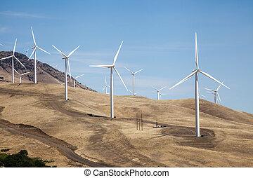 Wind Farm in Rural USA