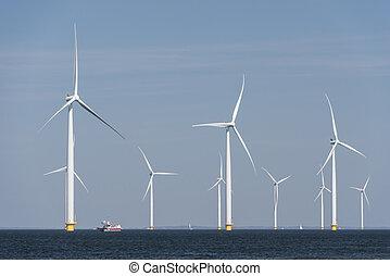 Wind farm in the water