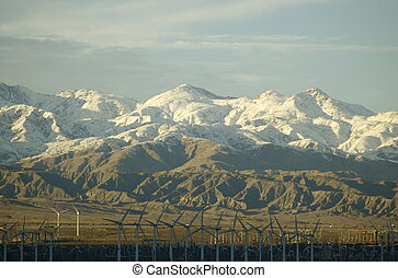 Wind Farm Palm Springs - View of wind farm in front of ...