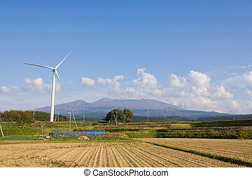 Wind-generated electricity - It is a windmill of the...