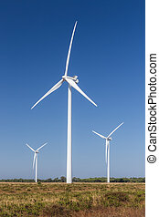 Wind generating sets for power generation.