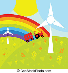 Wind generator background