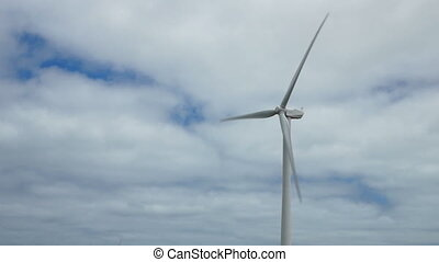 Wind generator - Common view of wind generator with clouds
