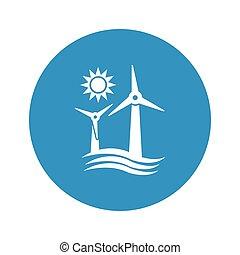 wind generator icon on white background