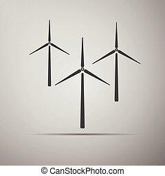 Wind generator icon.