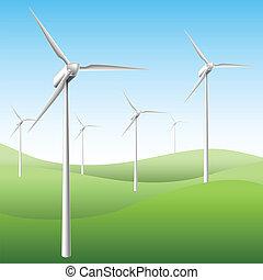 Wind generator text frame