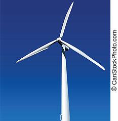 Wind Generator. Vector