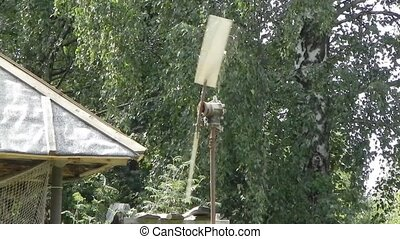 Wind generator. - Wind generator is shown in footage.