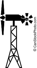 Wind generator with a windrose
