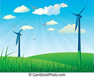 Wind generators and wind turbines