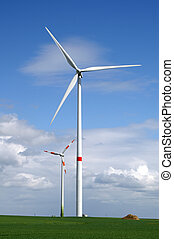 Wind generators in field