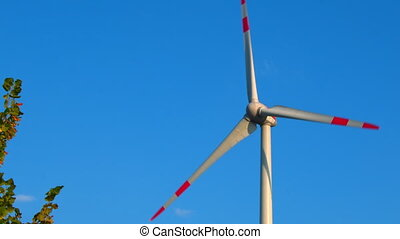 wind generators over sky background