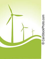 wind generators - wind generator with green background