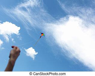 wind kite in the sky
