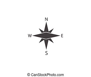 wind, kompaß, pictograph, ikone, vektor, rose