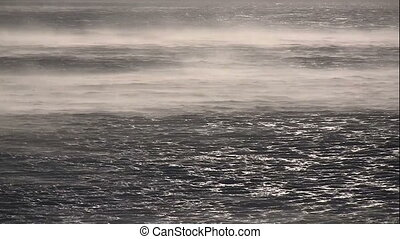 Wind on the sea background