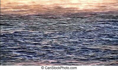 Wind on the sea