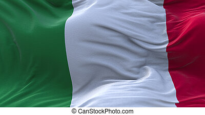 wind., onduler drapeau, italie