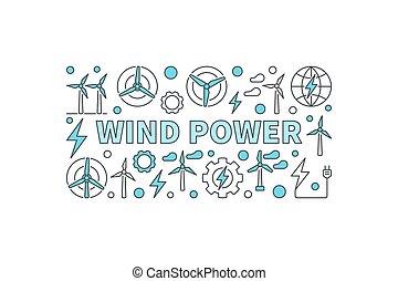 Wind power creative banner