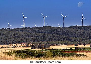 Wind power generators in Spain