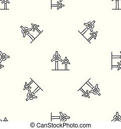 Wind power plant pattern seamless vector