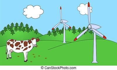 Wind Power Plants seamless loop