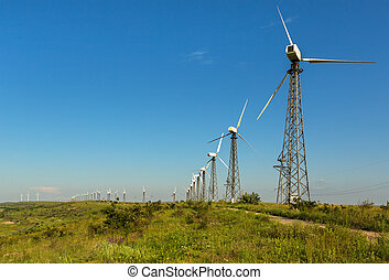 Wind power stations on the Crimean peninsula