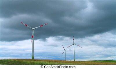 wind power, timelapse