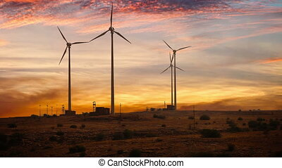 Wind-powered electricity in desert