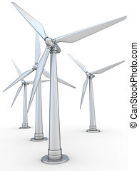 wind-powered, gerador