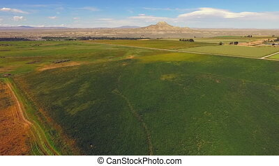 Wind River Reservation Wyoming Crowheart Butte - Aerial view...