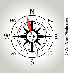 Wind rose compass icon